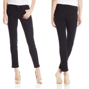 Level 99 Lily Crop Skinny Straight Black Jeans
